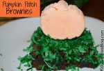 {Super Cute} Halloween Food: Pumpkin Patch Brownie Dessert