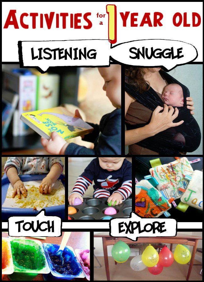 Lots of activities for 1 year old children