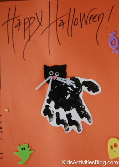 black cat halloween craft