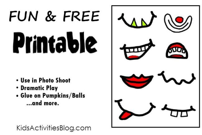 free printable for photo shoot - crazy faces