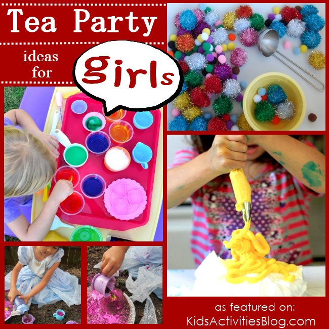 Play tea party... and lots of other games and activities for girls