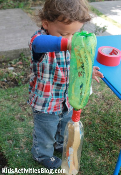 Recycled Craft Paper Mache Rain Stick