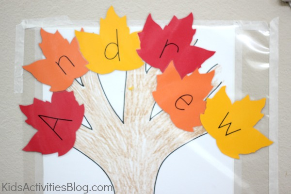 Fall Sticky Wall Craft