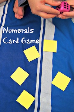 learning numbers card game