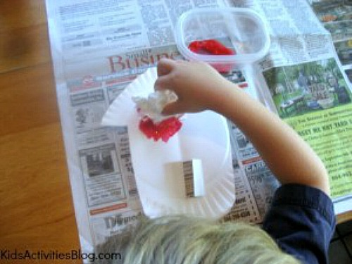 painting a red barn fall craft