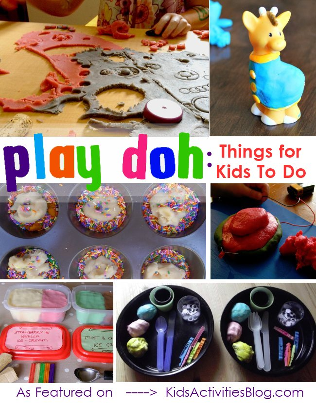 LOTS of playdough activities for kids