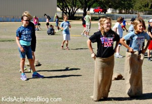potato sack race KAB