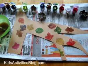 tree craft with cookie cutter easy stencils