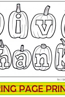 {Printable Thanksgiving Coloring Page} Baby's First Coloring Page