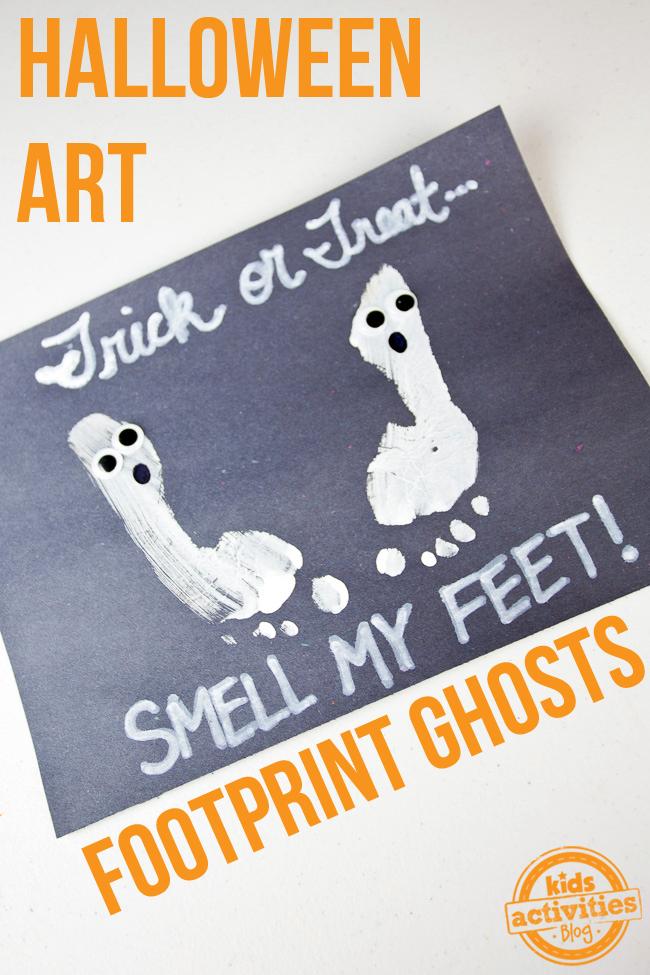 Halloween Art Ghost Footprints