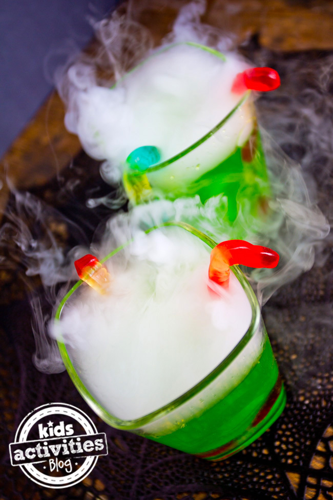 Halloween Fog Drinks Witches Brew