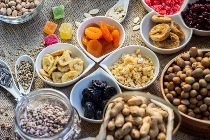 Ingredients for fall trail mix recipe for kids - Kids Activities Blog