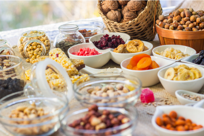 Many choices for homemade trail mix ingredients with kids - Kids Activities Blog