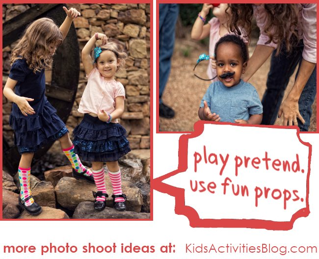 Silly ideas to make a family photo shoot fun for the kids