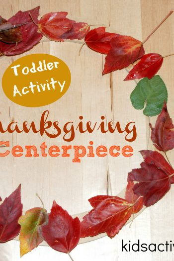 Thanksgiving Centerpiece Craft for Toddlers