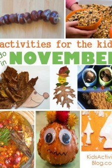 Celebrate Thanksgiving with some of these kids activities.