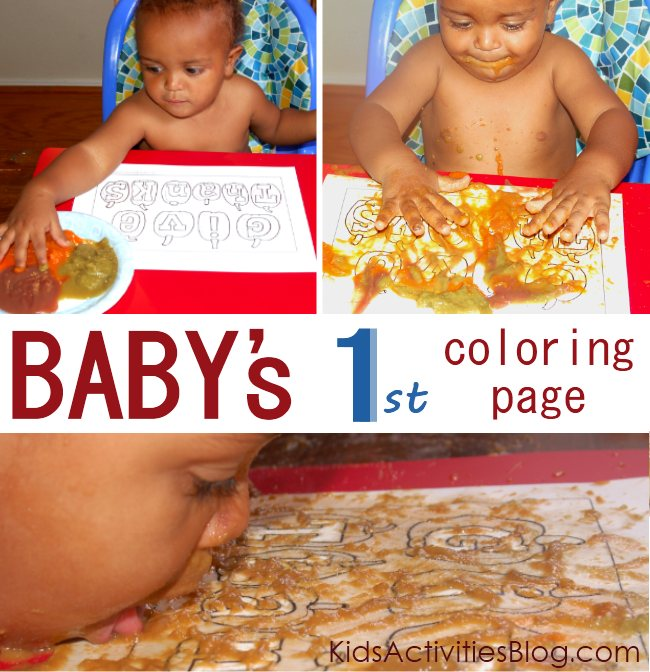 Coloring page printable and activity for babies