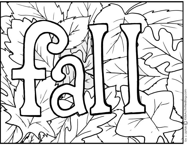 printable coloring page fall with leaves and some activities your kids can do with