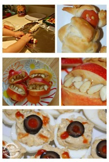 Such cute food to add to a halloween party. Kids will love getting to make {and eat} these treats!
