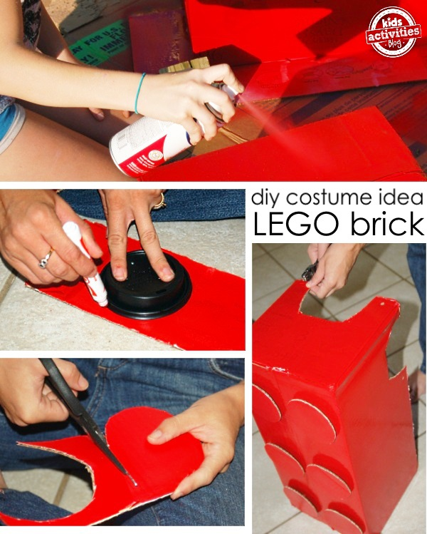 how to make a lego costume from a cardboard box