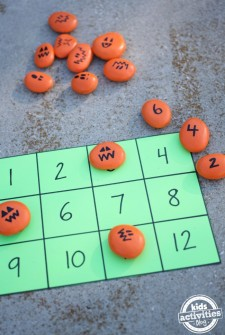 Halloween Math with Pumpkin Rocks