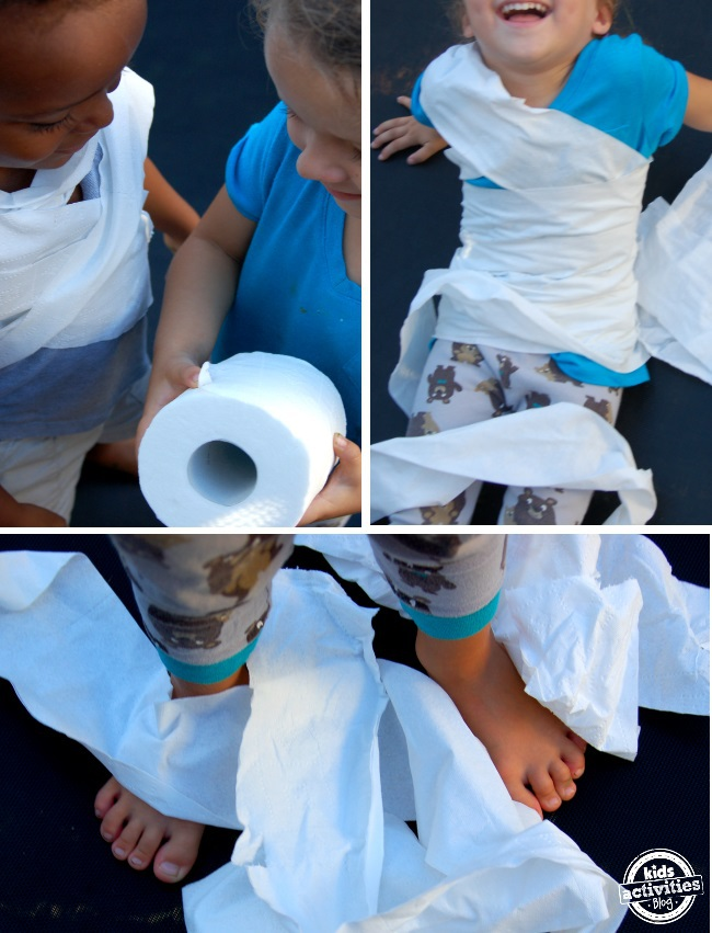super fun preschool activity - make mummies