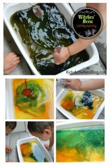 Color Mixing a Witches Brew {Halloween Activity}