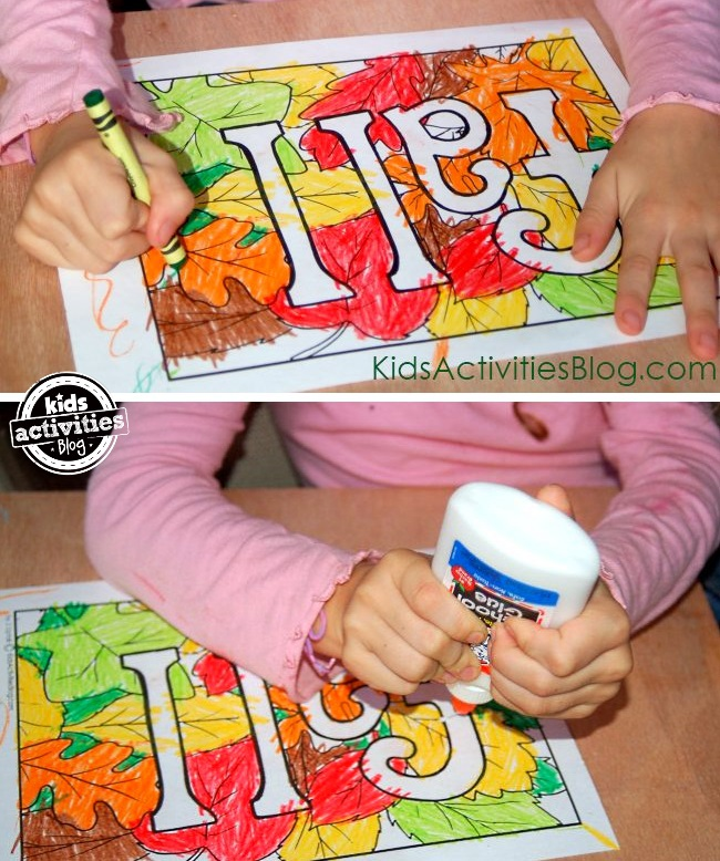4 fun fall coloring pages