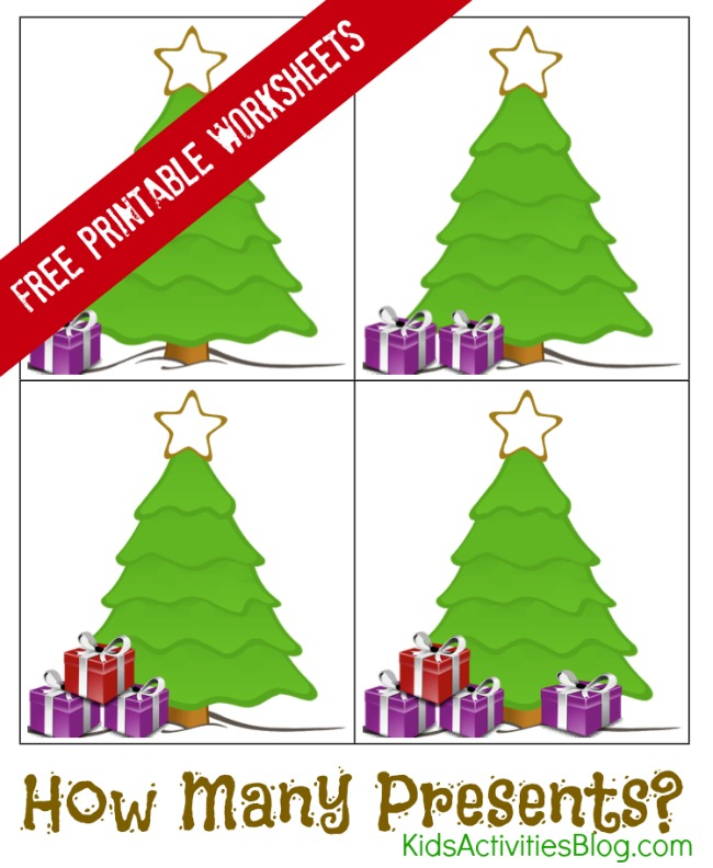Learning to Count with Printable Christmas Math Worksheets – Fun Christmas Math Worksheets
