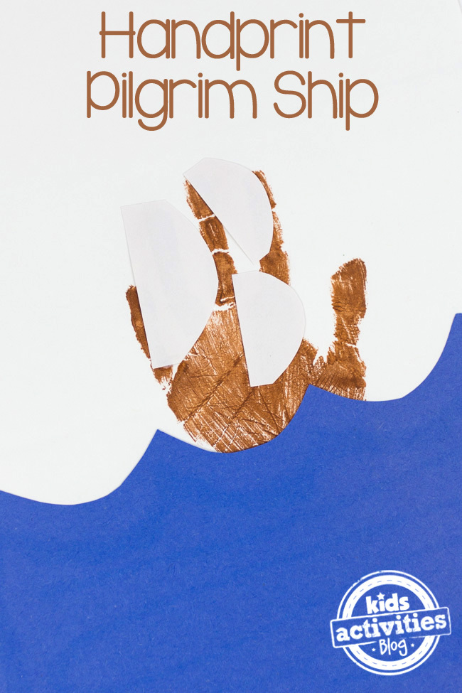 Handprint Pilgrim Ship Craft