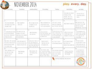 Nov 2014 Play Calendar pic