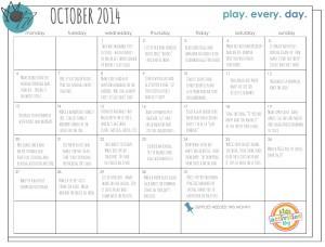 Oct 2014 Play Calendar
