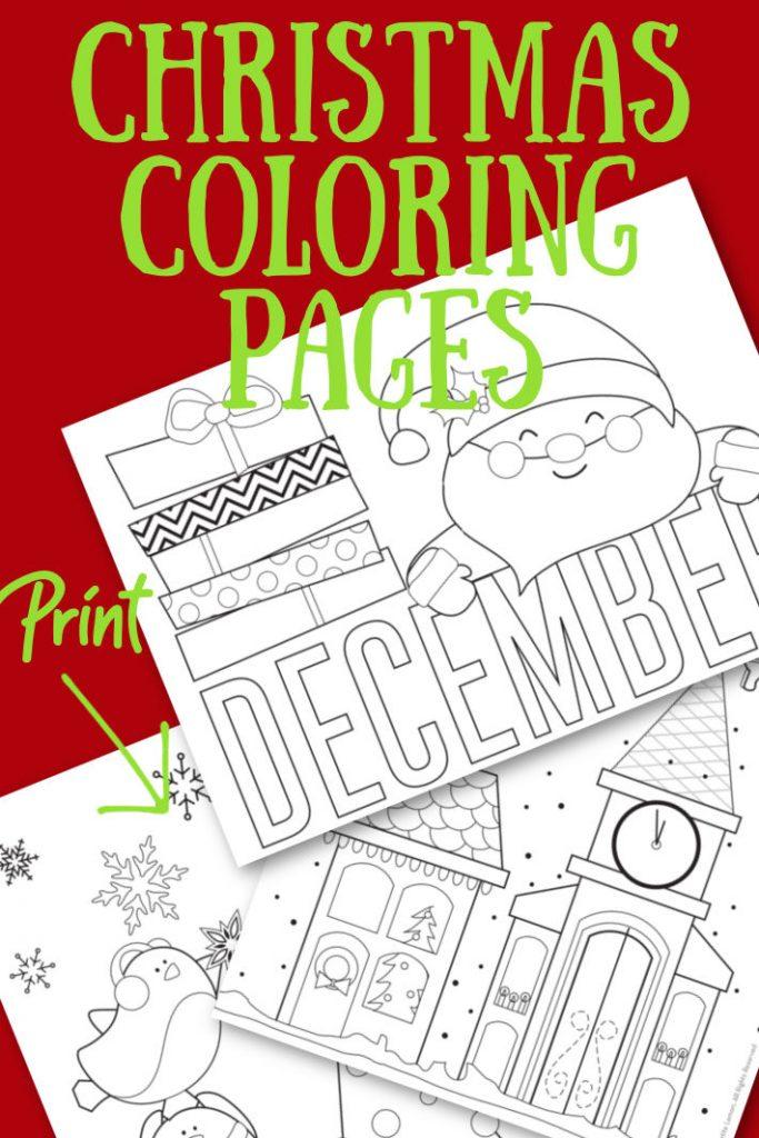 Imprimer la page de coloriage de Noël la plus mignonne du blog d'activités pour enfants