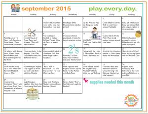 September Play Calendar
