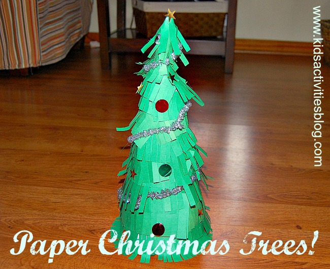 diy christmas decorations how to make paper christmas trees - How To Make A Paper Christmas Tree