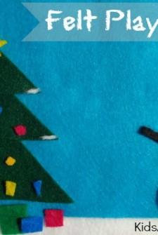 December Activities: Felt Play {Winter Scene}