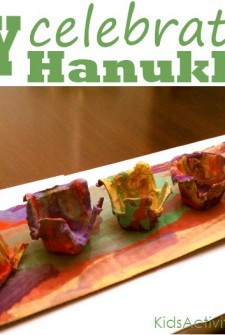 Celebrate the December Holiday of Chanukkah by making a menorah with your kids