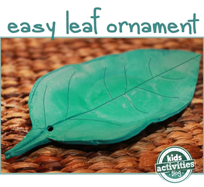 salt dough leaf ornament