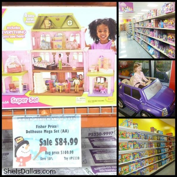 mattel toy store collage