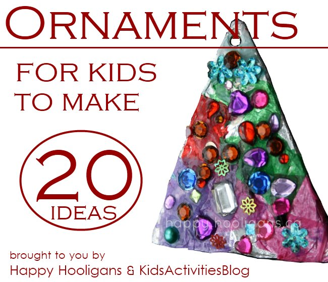 20+ Ideas of Christmas Ornaments your Kids can make this holiday season.