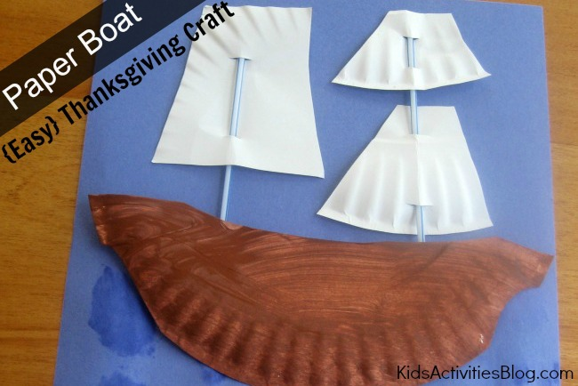 Paper Boat Thanksgiving Craft