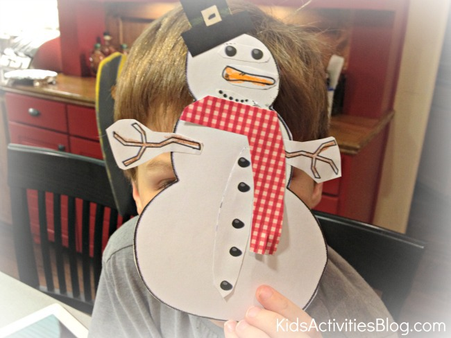 snowman printable craft