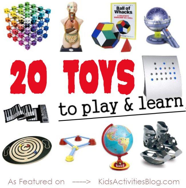20 jouets différents qui aident les enfants à apprendre tout en jouant - un excellent guide cadeau!