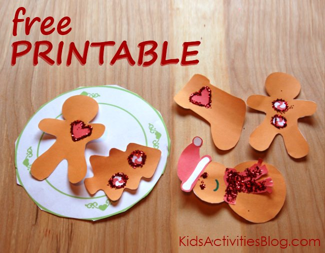 Christmas printables for kids - holiday baking set