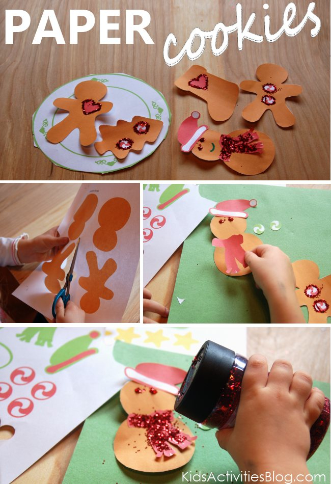Free Christmas printables to make paper cookies
