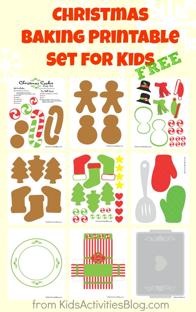 Christmas printables set for kids