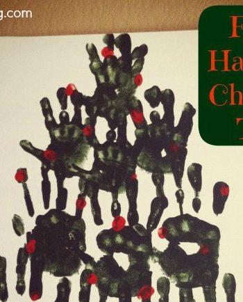 December Activities Hand Print Art