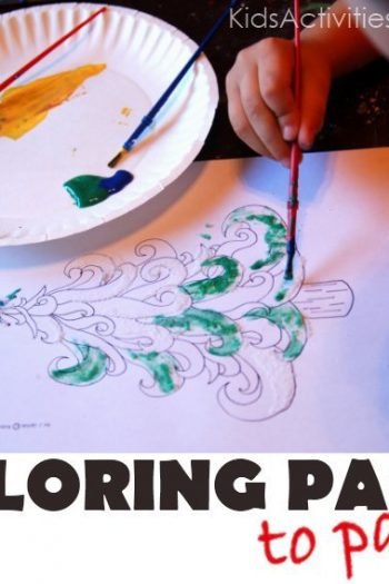 Free Christmas Coloring pages - great for kids to paint