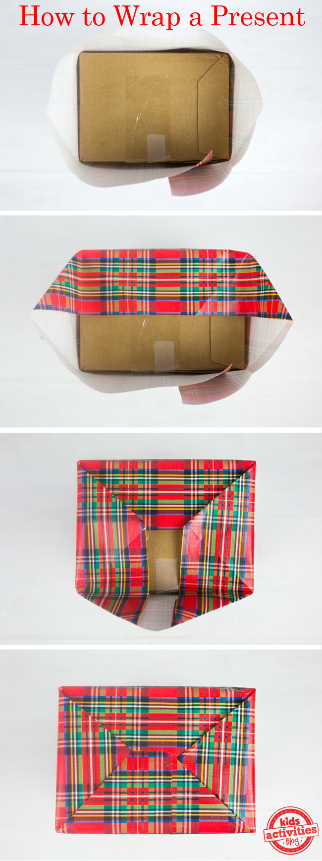 How to wrap a present kids activities blog for How to wrap presents with wrapping paper