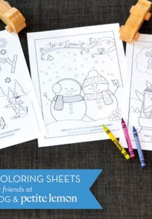 January Coloring pages - three adorable coloring pages for kids